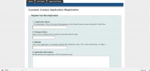 Constant Contact Registration