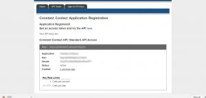 Constant Contact API key