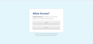 Constant Contact Allow Access