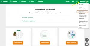 MailerLite Account