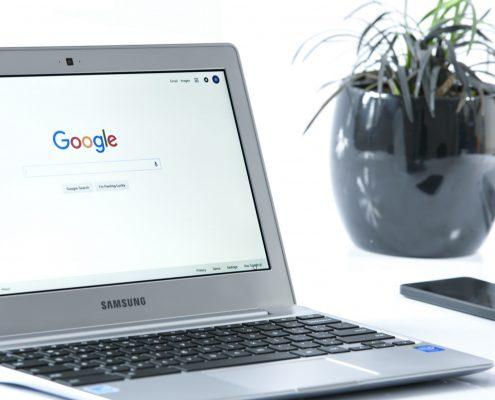 Google Chrome web search